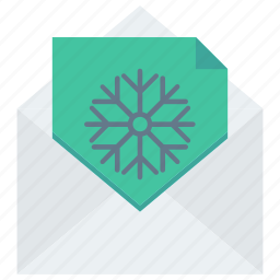 card, christmas card, envelope, greetings, letter, mail icon