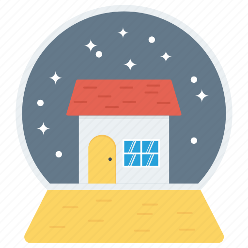 adornment, decoration, house, ornament, ornamental, snowing icon