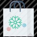 bag, christmas, gift, handles, reusable, shop