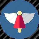angel, christmas, saint icon