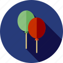 balloons, christmas icon