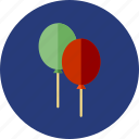 balloons, christmas, toy icon