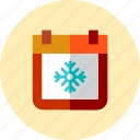 christmas, date, day icon