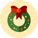 christmas, wreath icon