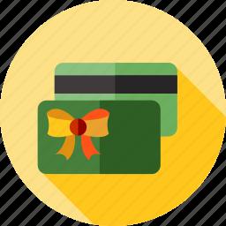 card, christmas, gift, money icon