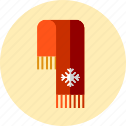 accesories, christmas, clothes, scarf icon
