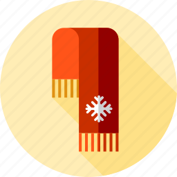 christmas, clothes, scarf icon