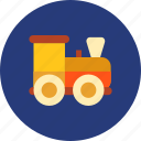christmas, toy, train icon