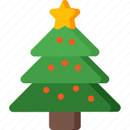 christmas, decoration, holiday, star, tree, winter, xmas icon