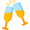 alcohol, beverage, celebration, champagne, drink, party icon