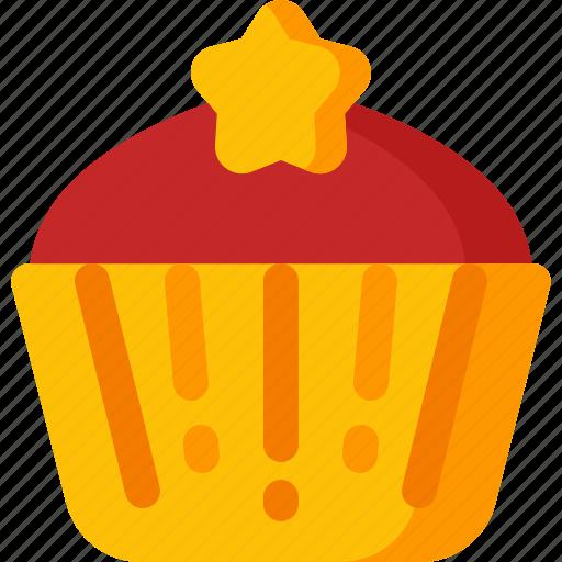 christmas, cupcake, dessert, ice, muffin, sweet, xmas icon