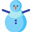 christmas, decoration, snow, snowman, winter, xmas icon