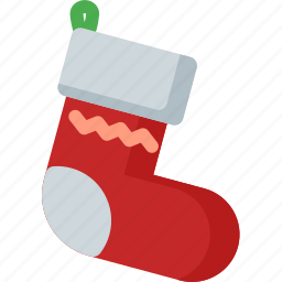 christmas, holiday, snowflake, sock, winter, xmas icon