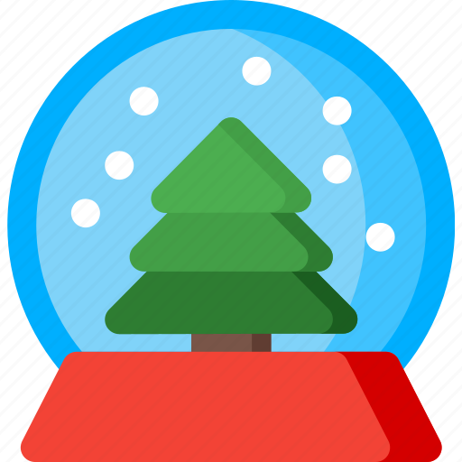 christmas, globe, snow, snowflake, tree, winter icon