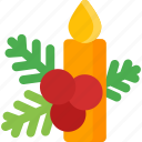 candle, celebration, christmas, decoration, holiday, xmas icon