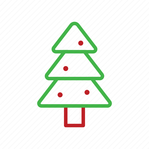 christmas, decoration, stroke, tree icon