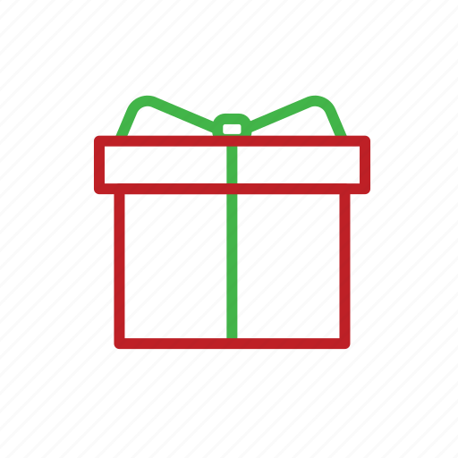 box, celebration, christmas, gift, present, stroke, xmas icon