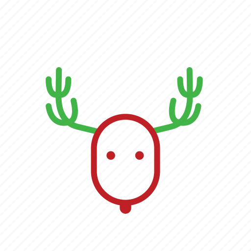 animals, antler, christmas, reindeer, stroke icon