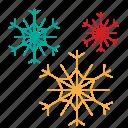 christmas, forecast, snow, snowflake icon