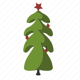 christmas, christmas tree, ornament, pine, tree icon