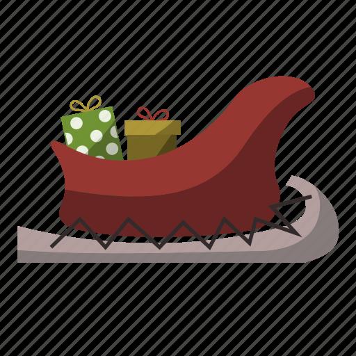 christmas, gift, santa, sleight icon