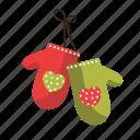 christmas, gloves, kitchen, ornament icon