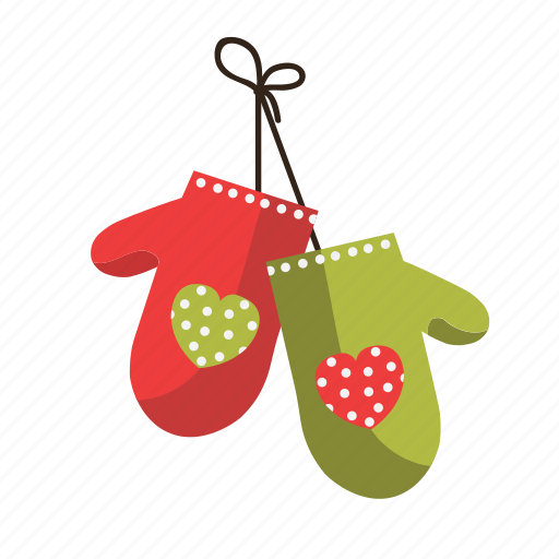 christmas, gloves, kitchen, ornament icon