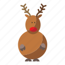 christmas, deer, santa, santa deer icon