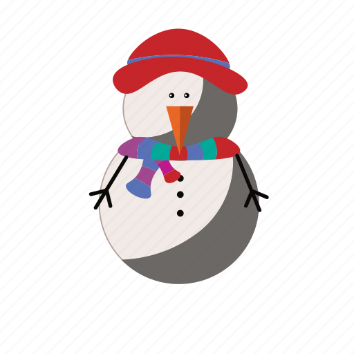 christmas, cold, frozen, snow, snowman icon