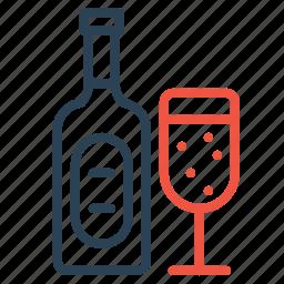 alcohol, beverage, celebration, drink, party, wine, xmas icon