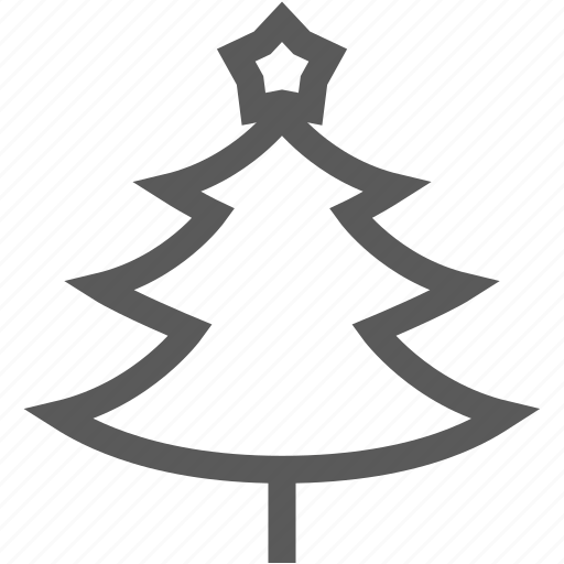 christmas tree, decoration, holiday, star, winter icon