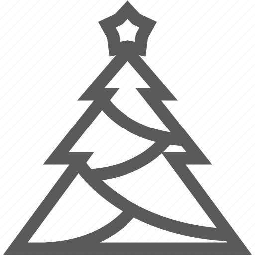 christmas tree, decoration, holiday, winter icon