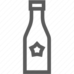 alcohol, bottle, drink, star, wine icon