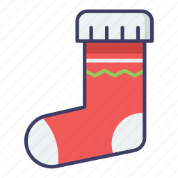 christmas, gift, sock icon