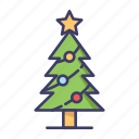 christmas, pine, tree icon