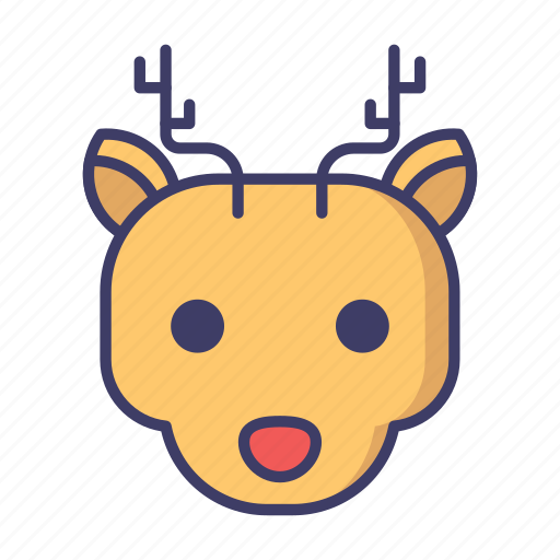 Christmas, reindeer, rudolph icon - Download on Iconfinder