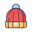 beanie, cap, christmas, hat, winter icon