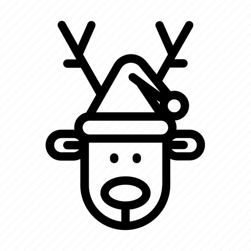 christmas, reindeer, rudolf, rudolph icon