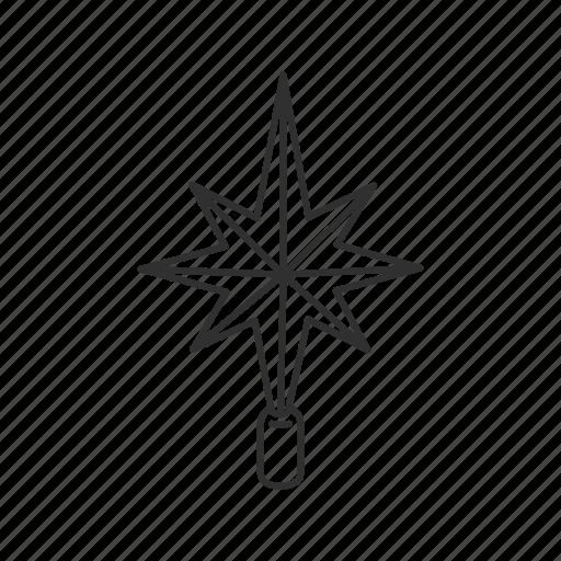 christmas, christmas star, christmas tree, glow, light, north star, star icon