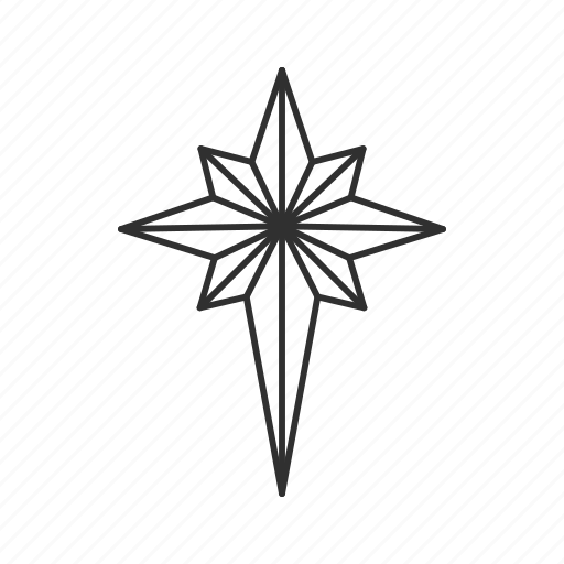 christmas star, christmas tree, glow, light, north star, sky, star icon