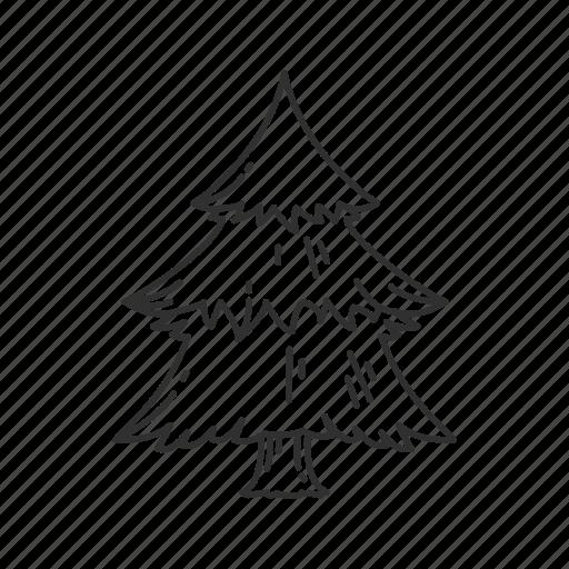 christmas, christmas tree, decoration, ornament, plain christmas tree, tree icon
