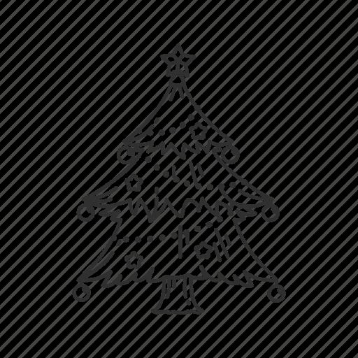 balls, christmas, christmas tree, decoration, lights, ornament, tree icon