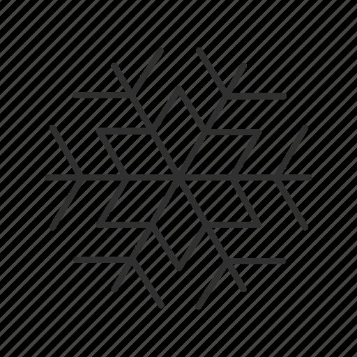 christmas, christmas snowflake, cold, holiday, snow, snowflake, winter icon