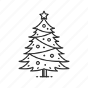 christmas, christmas tree, decoration, holiday, lights, star, tree icon