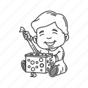 boxes, christmas, gifts, happy, kid, presents, toys icon