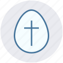 christmas, cross sign, easter, egg, holiday icon