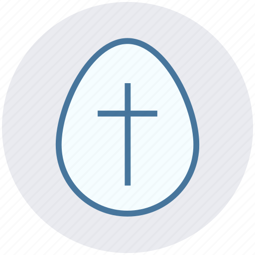 Christmas, cross sign, easter, egg, holiday icon - Download on Iconfinder