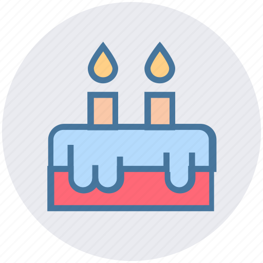 birthday, cake, candles, celebration, christmas, easter, festival icon