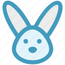 animal, bunny, bunny face, christmas, hare, rabbit face icon