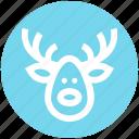 alaska, christmas, deer, deer face, face, santa icon